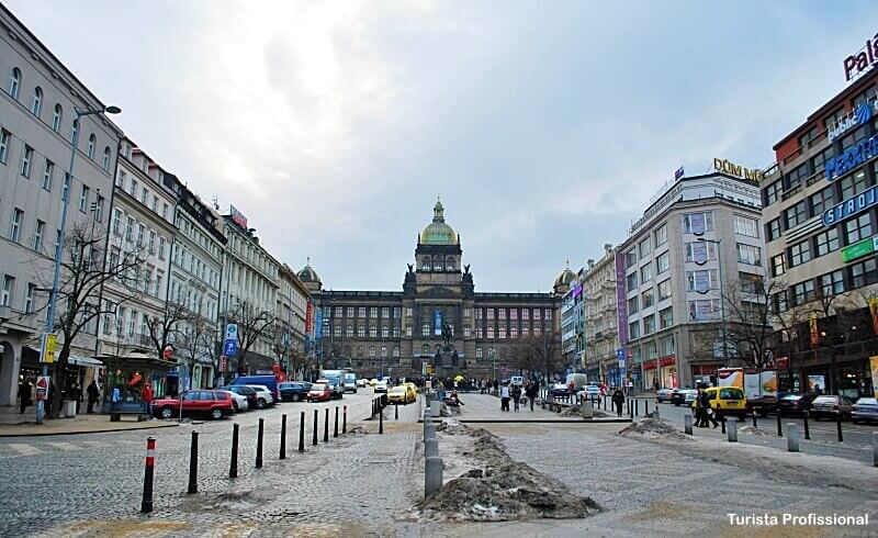 Praça Venceslau em Praga