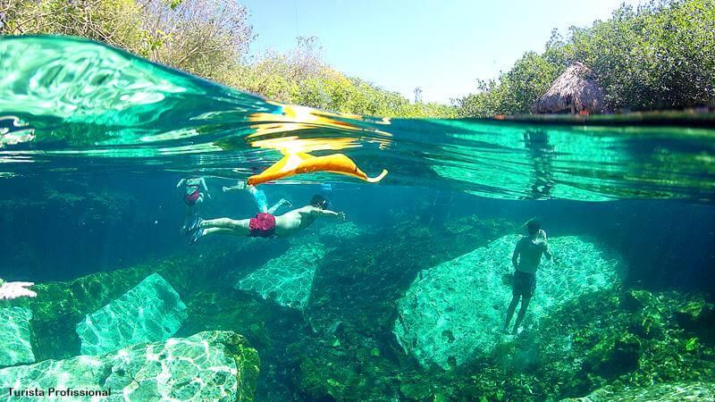 Cenotes no México