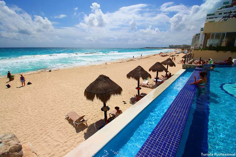 hotel em frente a praia Cancún