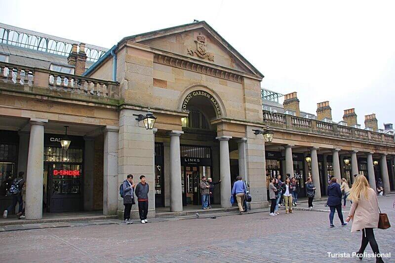 Covent Garden - Como chegar nas principais atrações turísticas de Londres