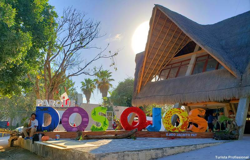 Entrada do Parque Dos Ojos Cancun