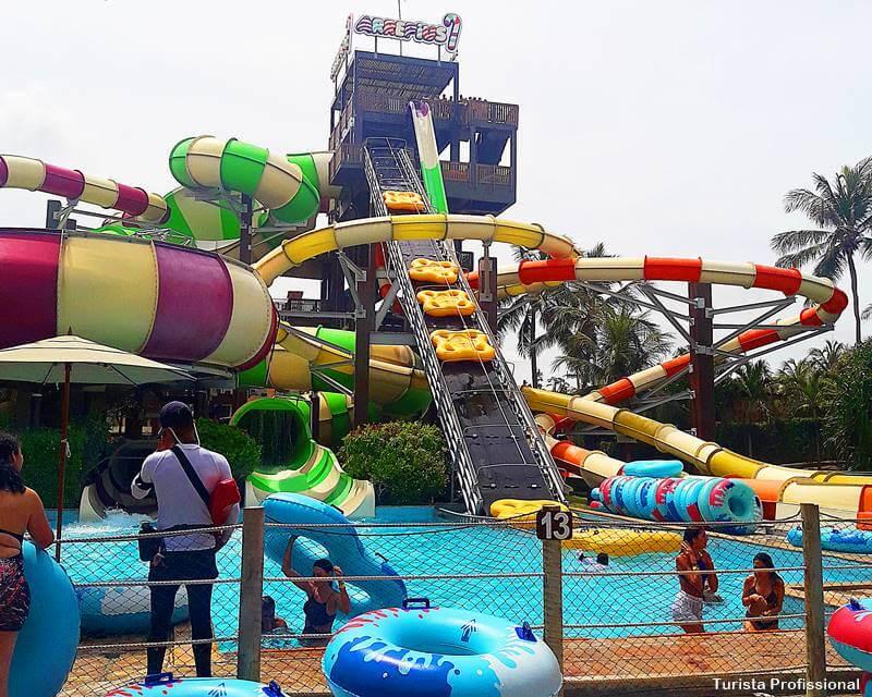 escorrega no Beach Park - Os melhores resorts para família
