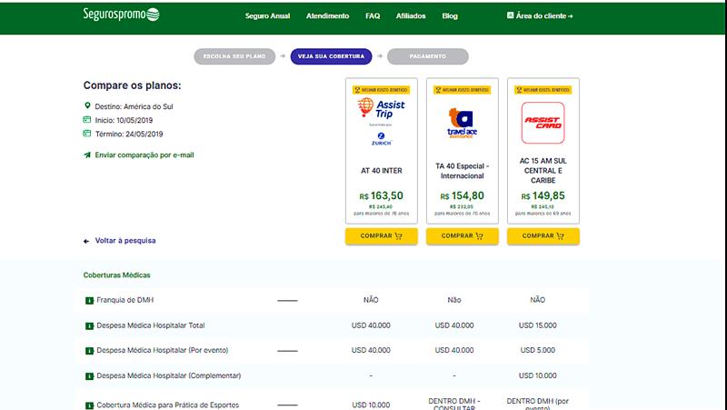 como comprar seguro viagem para o Chile