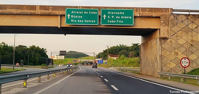 estrada que leva a Cabo Frio