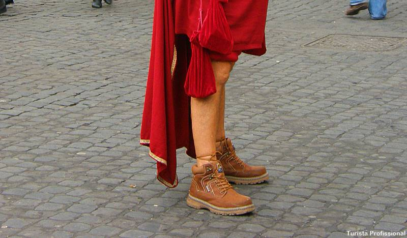 o que calçar em Roma