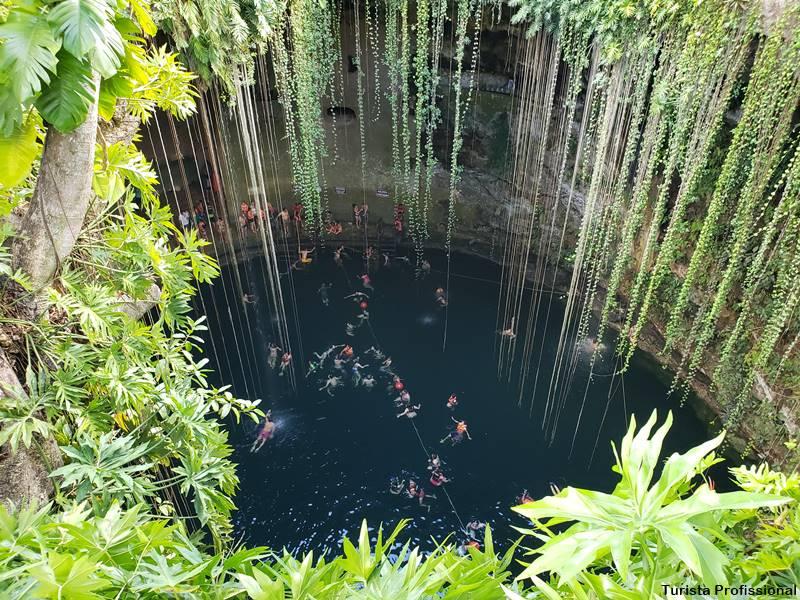 cenote Ik Kil - Cenote Ik-Kil: um dos mais famosos da Riviera Maia