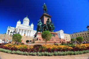 Praça central de Helsinki