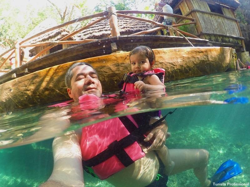 nadar no rio em xcaret - Parque Xcaret em Cancún: o que fazer