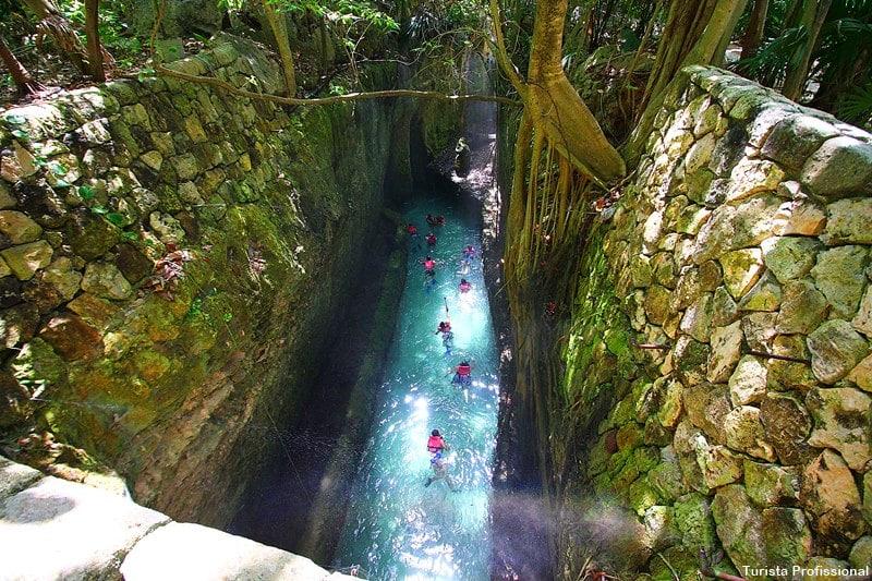 rio subterraneo xcaret cancun - Parque Xcaret em Cancún: o que fazer