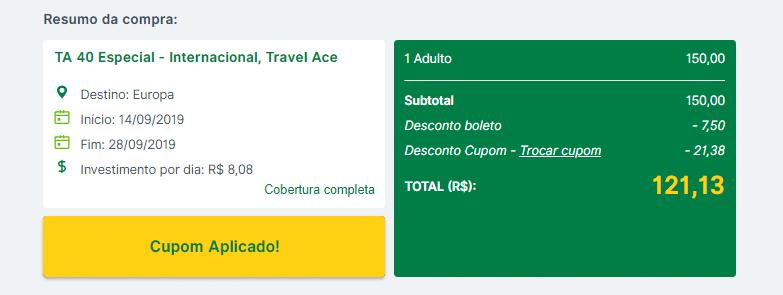 Valor do seguro viagem para a Espanha