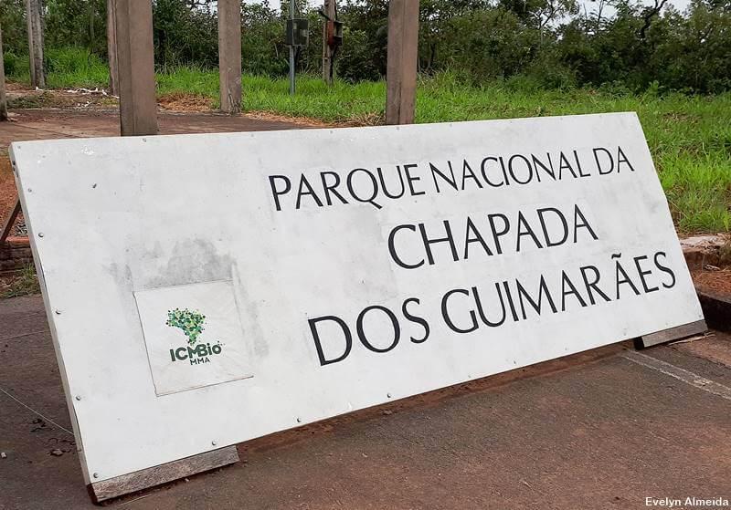 Entrada do Parque Nacional da Chapada dos Guimaraes - Roteiro pela Chapada dos Guimarães