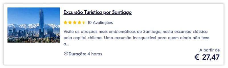 excursao em Santiago do Chile - Bairros de Santiago do Chile
