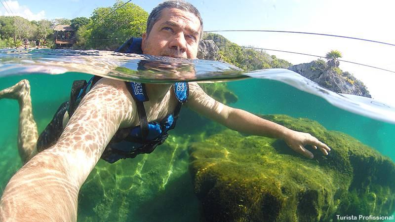 mergulho em Cancun - Parque Xel-Há, em Cancun