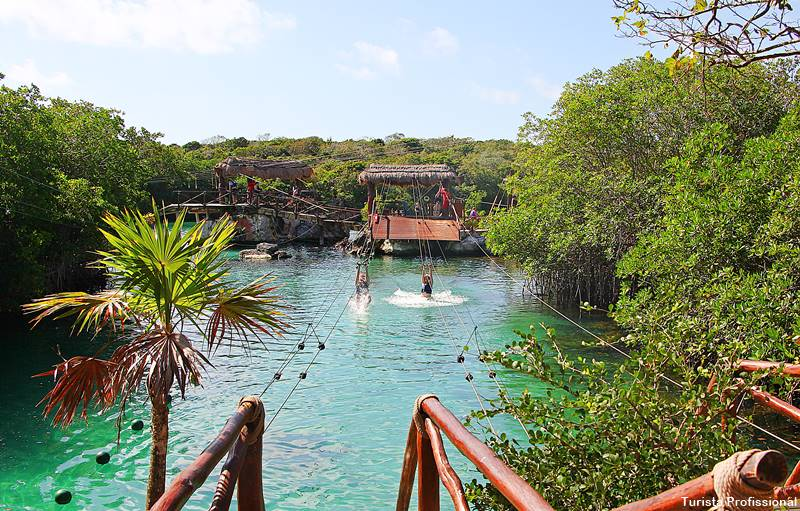 tirolesa cancun - Parque Xel-Há, em Cancun