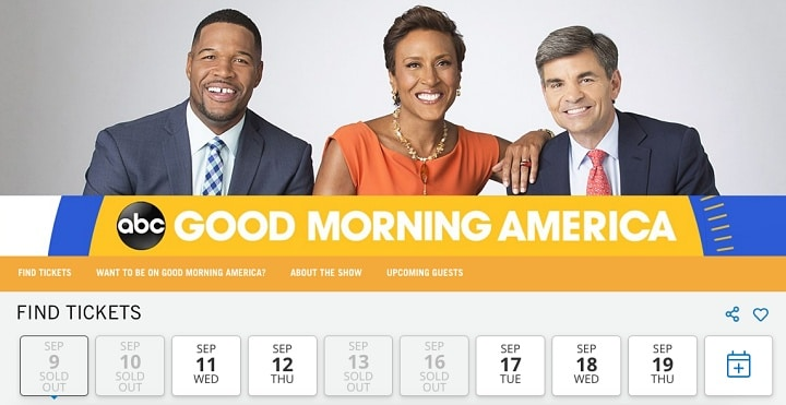 Como participai do Good Morning America