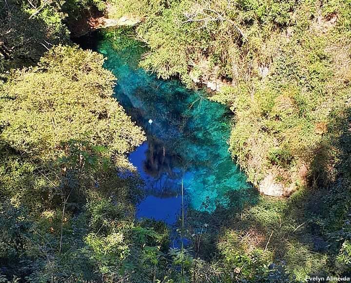 Lagoa Misteriosa vista do alto - Roteiro de 5 dias em Bonito: testado e aprovado!
