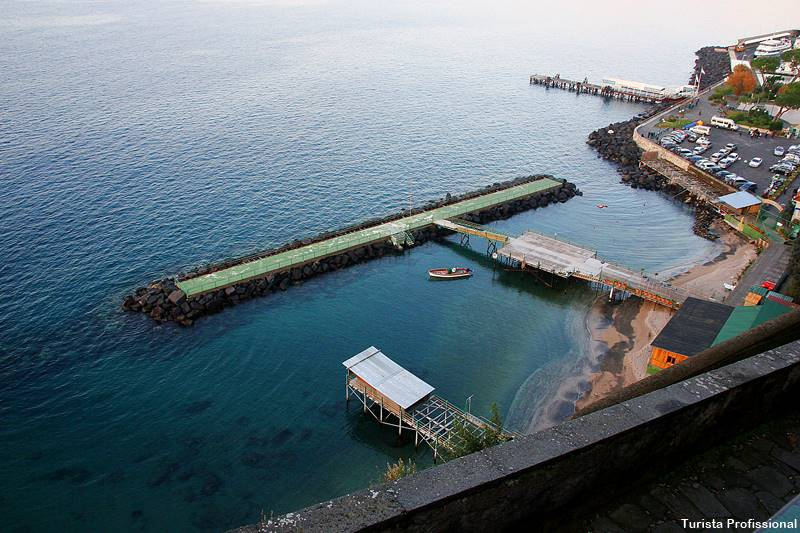 Barco para Capri em sorrento