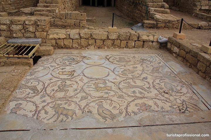 Mosaicos em Caesarea