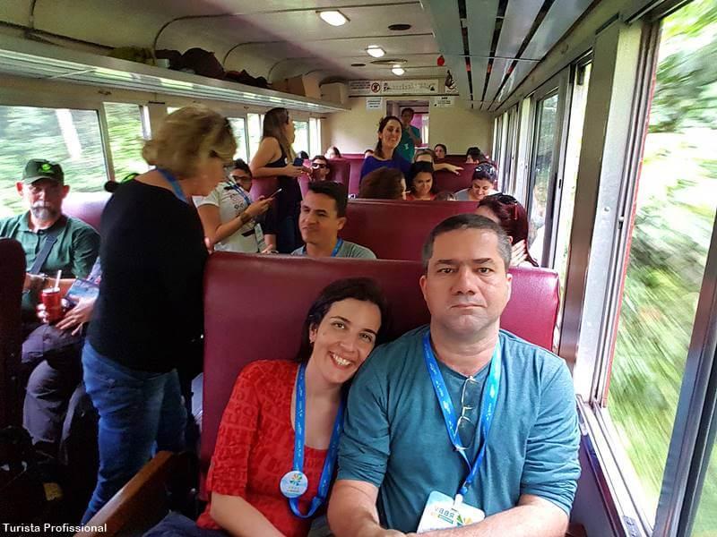 passeio de trem no Brasil