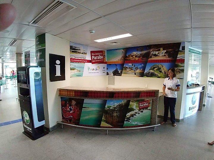 Centro de atendimento ao Turista, no Aeroporto de João Pessoa