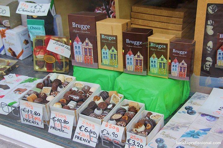 Chocolate belga em Bruges - Dicas de Bruges: o que fazer, como chegar, onde ficar