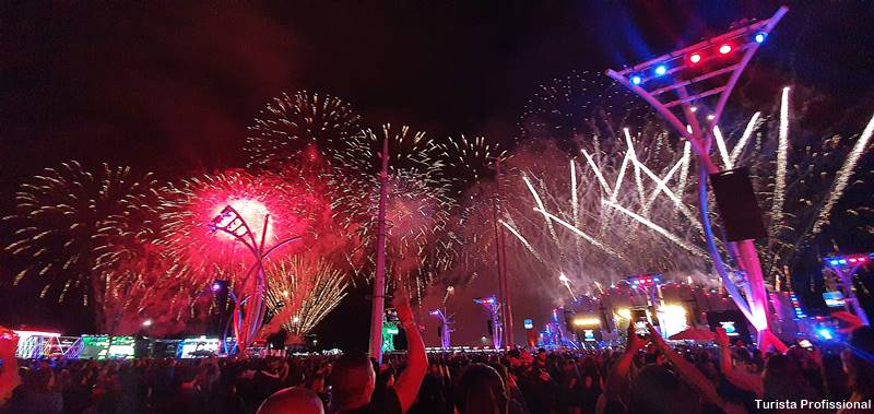 show de fogos no Rock in Rio