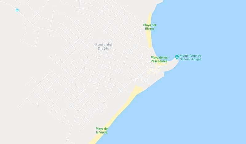 mapa de punta del diablo - Roteiro de dois dias em Punta del Diablo, Uruguai