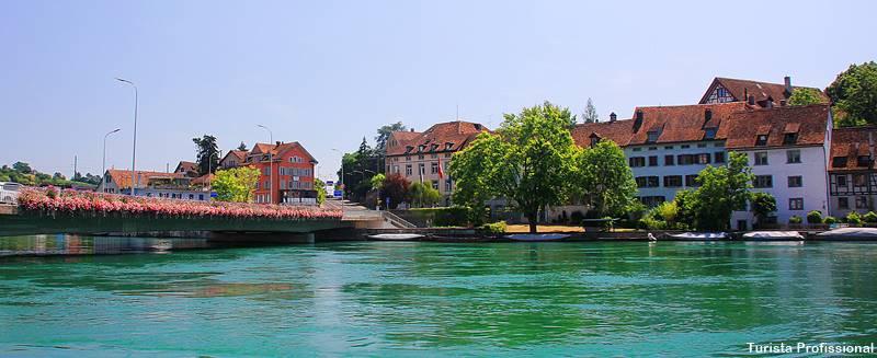 shaffhausen ao lado do rio reno na Suíça