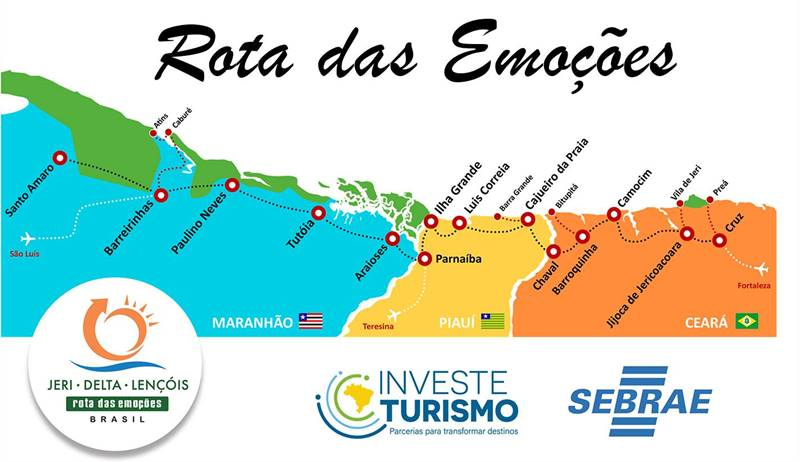 mapa da rota das emocoes - Rota das Emoções: roteiro completo de uma viagem dos sonhos