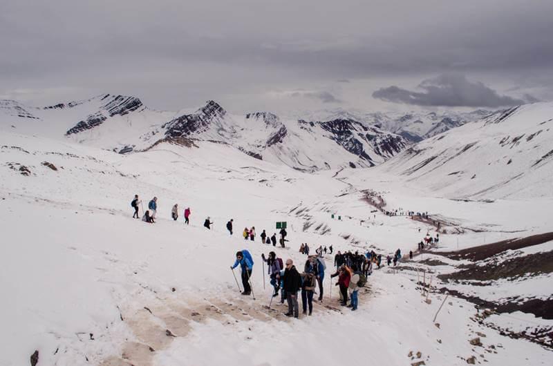 trekking ate montanha colorida peru - Rainbow Mountain, a Montanha Colorida no Peru