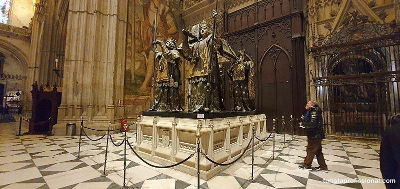 Tumulo de Cristovao Colombo - O que fazer em Sevilha: principais pontos turísticos