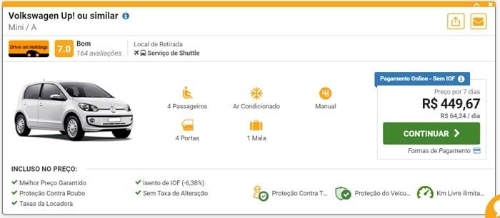 aluguel de carro barato em Portugal - Aluguel de carro em Portugal