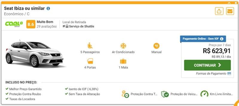 carro alugado em Portugal - Aluguel de carro em Portugal