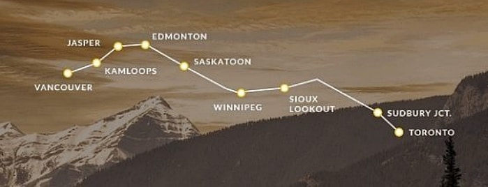 rota do the canadian 768x282 1 - The Canadian: dicas práticas para cruzar o Canadá de trem