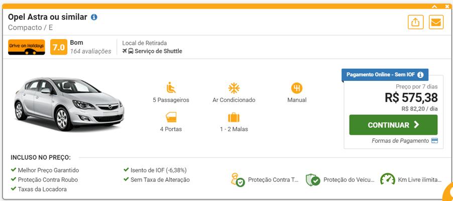 valor de carro alugado em Portugal - Aluguel de carro em Portugal