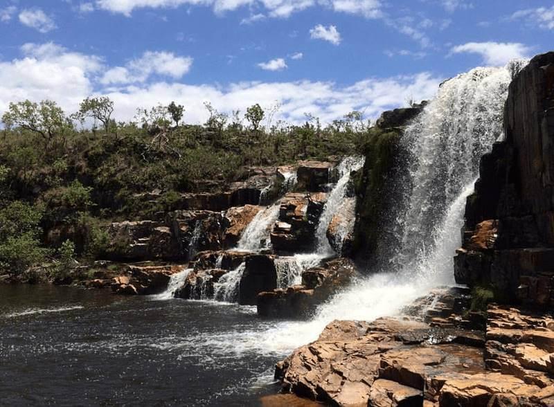 Catarata couros chapada veadeiros goias - Chapada dos Veadeiros: cachoeiras