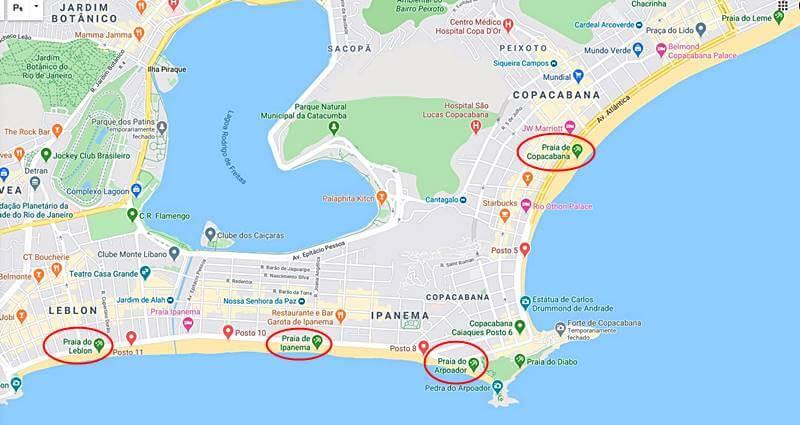 mapa das praias do rio de janeiro - Guia das praias do Rio de Janeiro