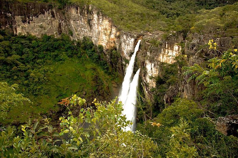 salto cachoeira chapada 1 - Chapada dos Veadeiros: cachoeiras