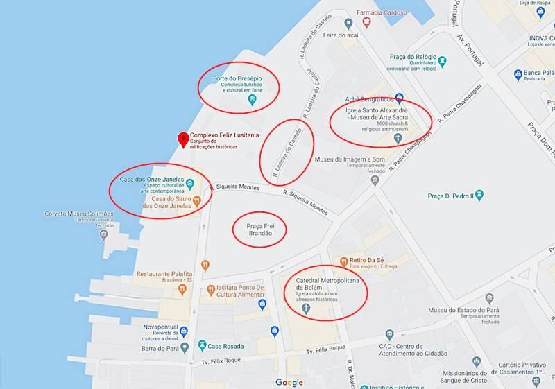 mapa de Belém