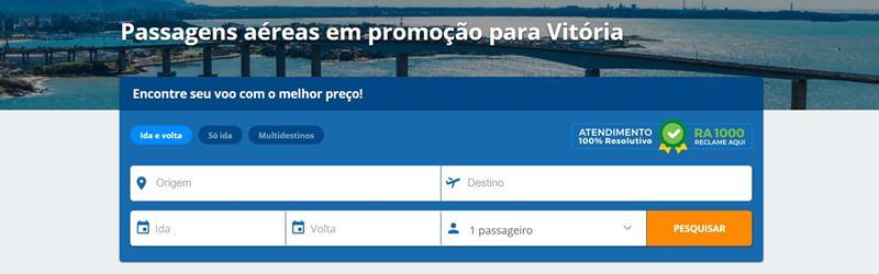 voos para Vitória ES