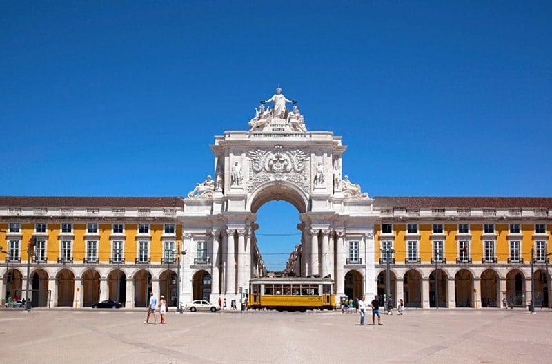 Arco da Rua Augusta Lisboa - Temperatura em Lisboa