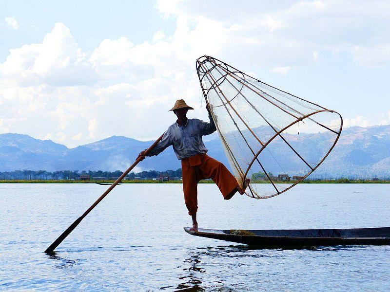 Inle Lake em Myanmar