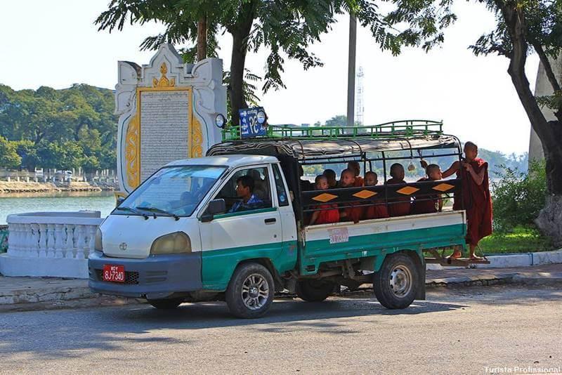 transporte em Myanmar