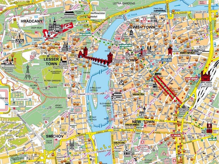 mapa da cidade de praga - Cidade de Praga: dicas de viagem pra capital da República Tcheca