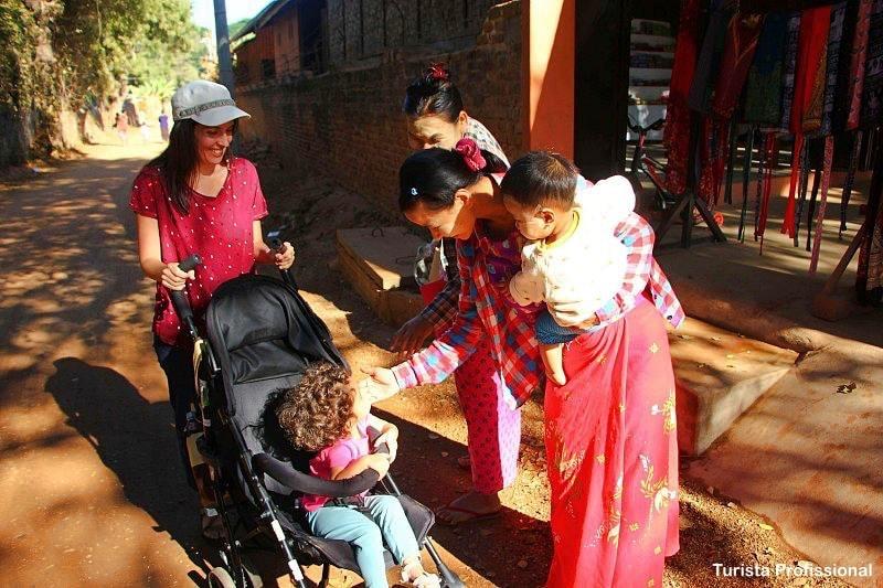 O povo em Mianmar