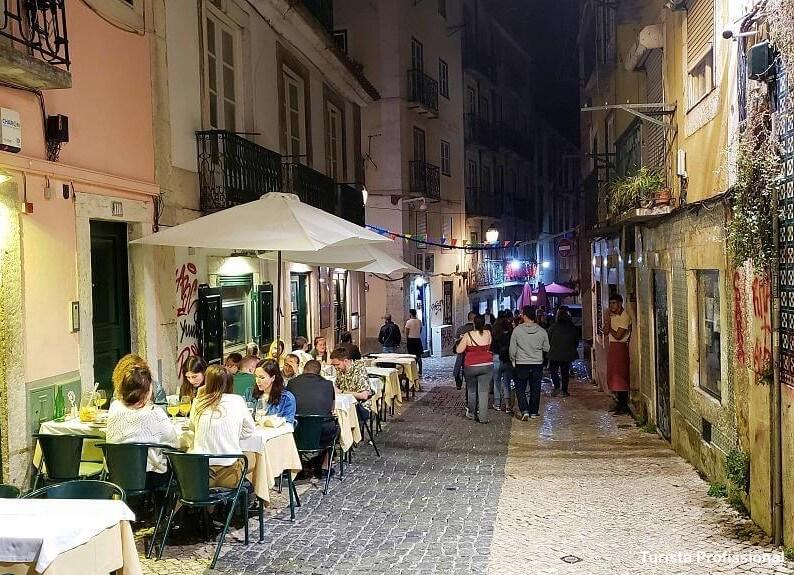 noite no Bairro Alto - Bairro Alto em Lisboa