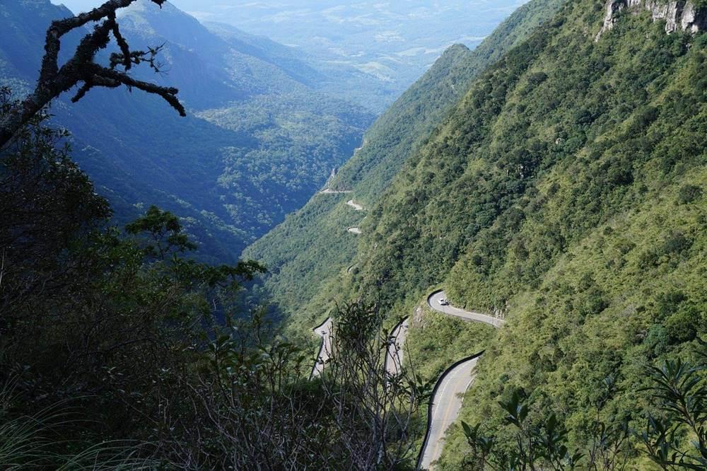 visual da estrada da serra do rio do rastro - Serra do Rio do Rastro, Santa Catarina