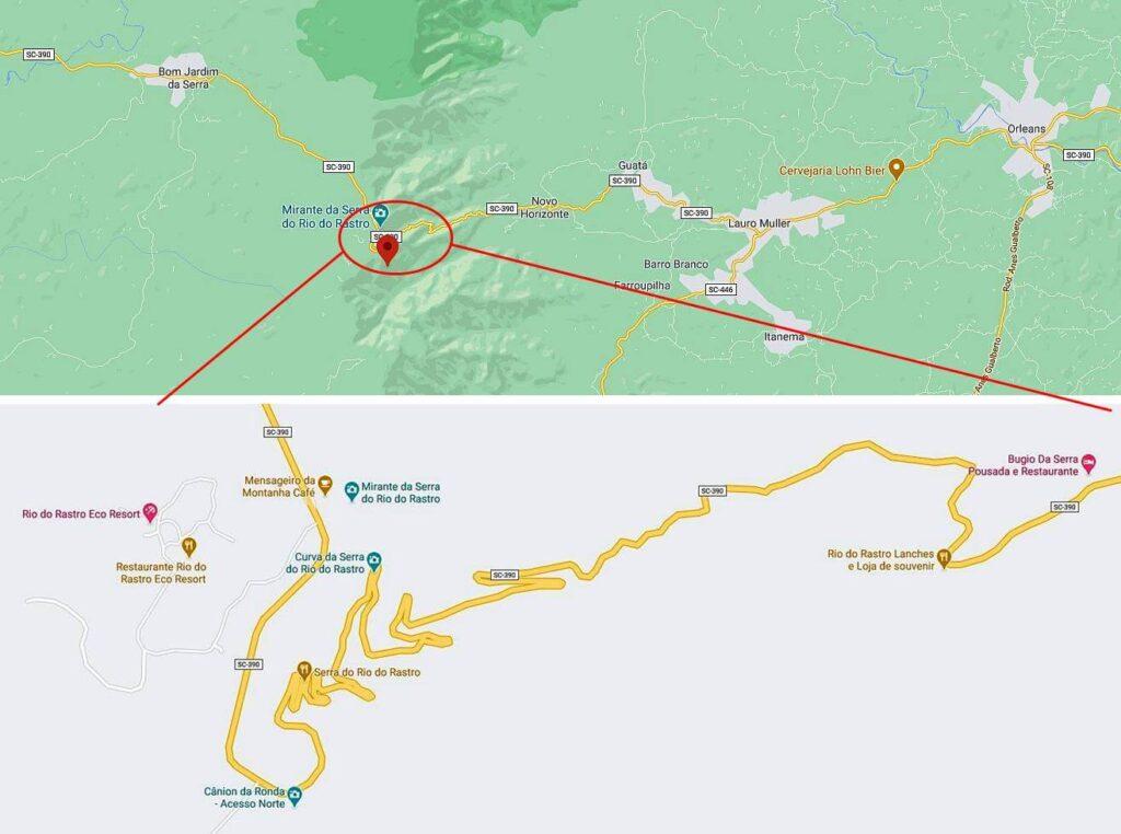 estrada da serra do rio do rastro 1024x762 - Serra do Rio do Rastro, Santa Catarina